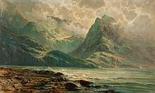 Carl Phillip Weber. Mountains and Sea, oil
