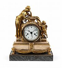 Charles Le Roy ormolu and marble mantel clock
