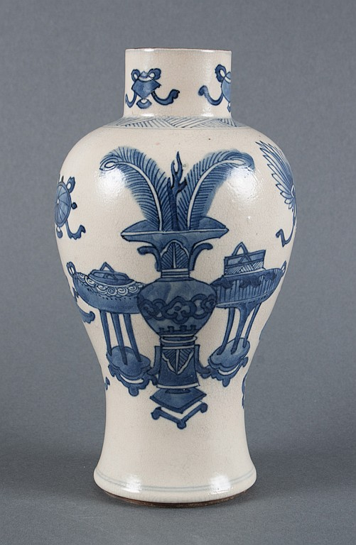 Chinese Export blue and white porcelain jar