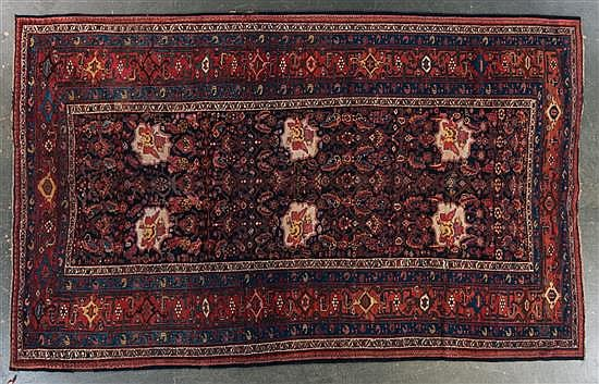 Unusual antique Bijar carpet, Persia, circa 1920, approx. 8.1 x 12.10