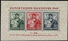 BRITISH & AMERICAN ZONE 1949 Hanover Trade Fair, fine M, SG.MSA145. Cat. £120 (1)