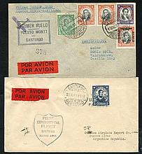 1928-60 first flight covers (8) incl. 1928 May 8th Doolittle Survey flight Santiago-B