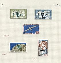 FRENCH SOUTHERN & ANTARCTIC TERRITORIES 1956-94 fine M collection on leaves incl. 195
