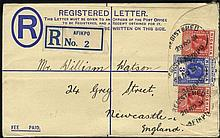 1930-31 pair of reg covers to UK, 5d frankings with scarce pmks of Numan and Damaturu