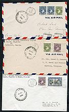 1941 Pan-Am's FAM 22 flight to Accra, Nigerian acceptance covers for return stages in
