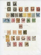 1852-1964 M & U collection on leaves incl. 1852 10c (4), 1859-63 vals to 37½c U (odd