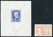1870-71 1c Franklin National Bank Note Co. Proof on India, 1893 Columbus $4 Proof on