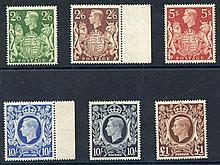 1939 High Value set, all UM (except 10s dark is M), SG.476/478c.