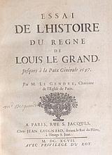 Abbé Louis LEGENDRE <br> Essai de l?histoire du règne de Louis Le Grand, jusques