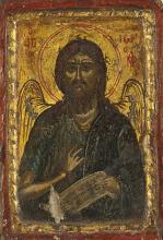 Saint Jean-Baptiste Grèce XVIIIe Tempera sur bois