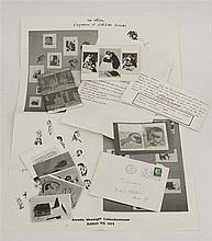 ANNETTE MESSAGER (NEE EN 1943)  ENSEMBLE DE DOCUMENTS