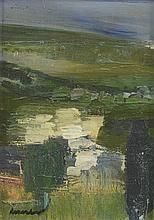 ECOLE XXÈME COMPOSITION Huile sur toile Signée en bas à gauche 27 x 20 cm –