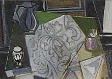 GEORGES DAYEZ (1907-1991) NATURE MORTE Huile sur papier marouflé sur toile