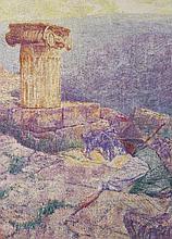 FRANS GAILLIARD (1861-1932) PLATRE PHOCIDIEN Huile sur toile Signée en bas