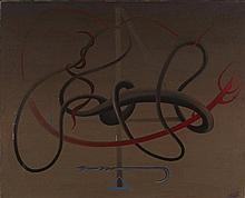 FELIX LABISSE (1905-1982) GRAND EXORCISME DU RITUEL DE MALINES, 1957  Huile
