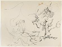 KURT SELIGMANN (1900-1962) COMPOSITION, 1937  Encre et aquarelle sur papier