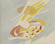 ANDRE BEAUDIN (1895-1979 SOLEIL SOLEIL, 1972  Aquarelle et mine de plomb su