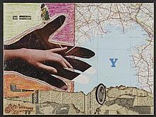 EDOUARD LEON THEODORE MESENS (1903-1971) ADVENTURE Collage de pastel gras,