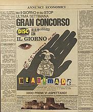 EDOUARD LEON THEODORE MESENS (1903-1971) READYMADE, 1969  Collage de journa