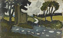 AUGUSTE CHABAUD (1882-1955) FLAQUES APRES LA PLUIE, CIRCA 1905  Esquisse à