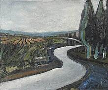 AUGUSTE CHABAUD (1882-1955) CYPRES PRES DE LA ROUTE, CIRCA 1910  Huile sur
