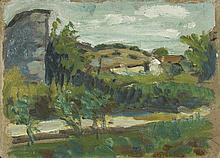 AUGUSTE CHABAUD (1882-1955) LE PETIT MAZET, CIRCA 1909  Esquisse à la mine