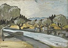 AUGUSTE CHABAUD (1882-1955) OLIVIERS PRES DES ALPILLES