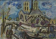 MAURICE EMPI (NE EN 1933) NOTRE DAME Huile sur toile Signée en bas à droite