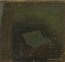 SERGE CHARCHOUNE (1889-1975) COMPOSITION, 1930  Huile sur toile marouflée s