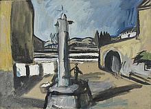 AUGUSTE CHABAUD (1882-1955) LE CALVAIRE, CIRCA 1912  Huile sur carton 37,5