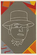 EDUARDO ARROYO   (NE EN 1937)  PORTRAIT, 1990  Lithographie en couleurs  Si