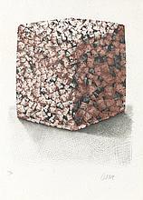 CESAR (1921-1998)  PORTRAIT de COMPRESSION   Lithographie en couleurs   Sig