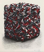 CESAR (1921-1998)  PORTRAIT DE COMPRESSION DE DRAPEAUX ITALIENS  Lithograph