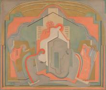 ALBERT GLEIZES (1881-1953) PEINTURE MURALE POUR UNE EGLISE,
