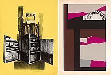 LOUISE NEVELSON (1899-1988)  Ensemble de deux estampes :