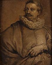 ECOLE FLAMANDE DU XVIIE SIECLE, ATELIER D'ANTON VAN DYCK Portrait d'Adriaen van Stalbemt (1580 – 166