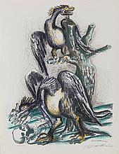 OSSIP ZADKINE (1890-1967)   LES OISEAUX DU LAC STYMPHALE, 1960