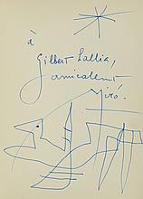 [MIRO]. ANDRÉ VERDET. Joan Miró. Nice, Galerie Matarasso, 1957.Plaquet