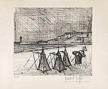 BERNARD BUFFET (1928-1999) LA PLAGE, 1957 <br> (Sorlier, 13) <br>