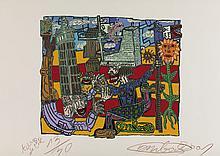 ROBERT COMBAS (NE EN 1957) LA VILLE DE LILLE, 2001 <br> Sérigraph
