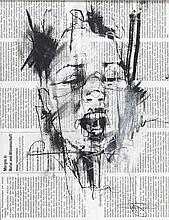 GUY DENNING (NE EN 1965) DIE MARKTE <br> Sérigraphie réhaussée au