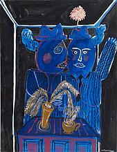 ALEKOS FASSIANOS (NE EN 1935)  DANS LA CHAMBRE, 1966