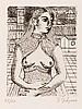 Paul Delvaux (1897-1994) Buste de femme II, 1971 Eau forte en noir Signée e, Paul Delvaux, €600