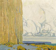 Fernand Lantoine (1878 - 1955) Falaise à Sainte-Ma