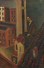 Charles Counhaye (1884 - 1971) Le peintre à son ba