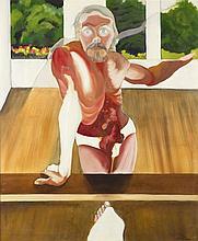 Daniel Bruniaux (né en 1939) Autoportrait surpris,