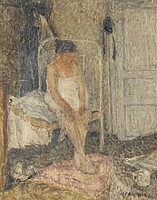 Henri Le Roux (1872 - 1942) Le lever, 1937 Huile s
