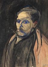 Charles Dehoy (1872 - 1940) Autoportrait, 1919 Gou