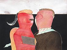 Michel Potier (né en 1941) Sans titre (Conversatio