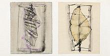 Luc Mondry (1938 - 1999) Sans titre, diptyque, 198